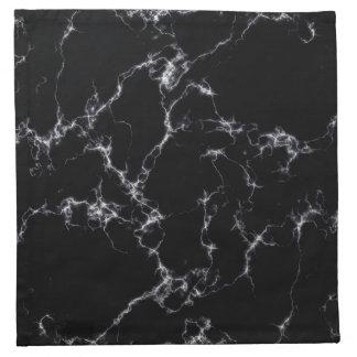 Elegant Marble style4 - Black and White Napkin