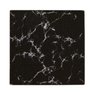 Elegant Marble style4 - Black and White Wood Coaster