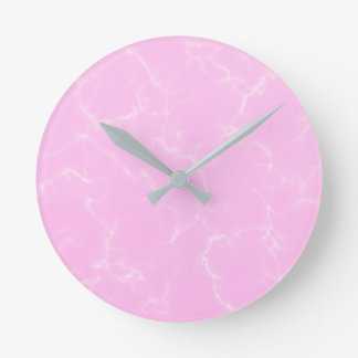 Elegant Marble style5 - Cherry Blossoms Pink Round Clock