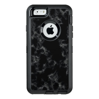 Elegant Marble style - black OtterBox Defender iPhone Case