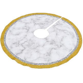 Elegant Marble style Brushed Polyester Tree Skirt