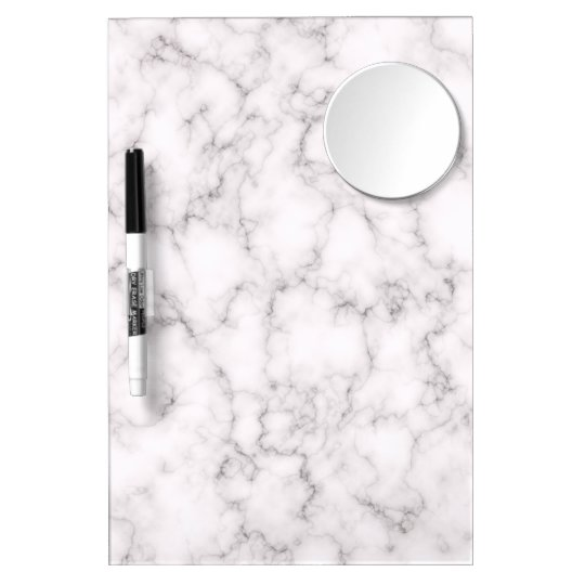 Elegant Marble style Dry Erase Board With Mirror