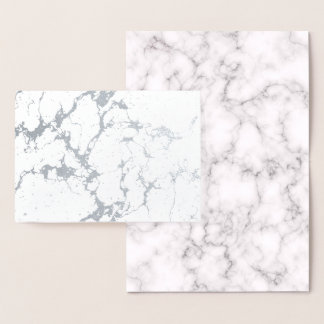 Elegant Marble style Foil Card