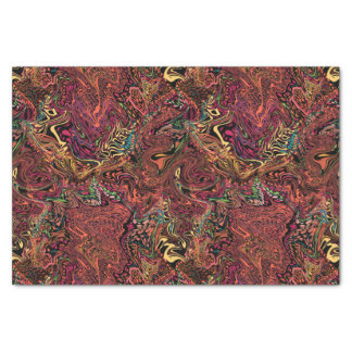 Elegant marbled tissue paper, warm autumn swirls tissue paper