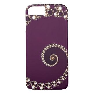 Elegant Maroon Abstract Swirl iPhone 7 Case
