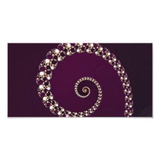 Elegant Maroon Abstract Swirl Photograph