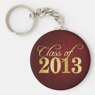 Elegant Maroon vignette and Gold Class of 2013 Key Ring
