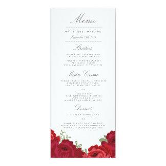Elegant Mason Jar Wedding Menu 10 Cm X 24 Cm Invitation Card