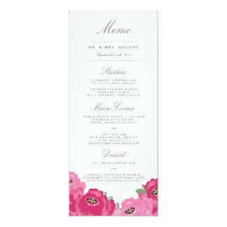 Elegant Mason Jar Wedding Menu Card