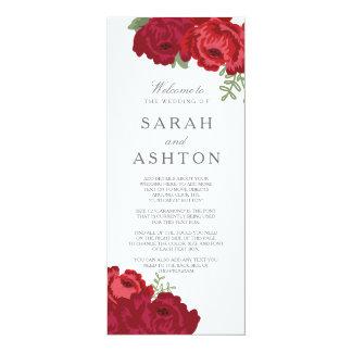 Elegant Mason Jar Wedding Program