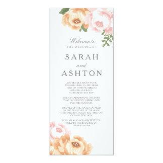 Elegant Mason Jar Wedding Program 10 Cm X 24 Cm Invitation Card
