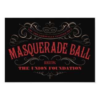 Elegant Masquerade Ball Invitations