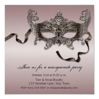 Elegant Masquerade Party Card