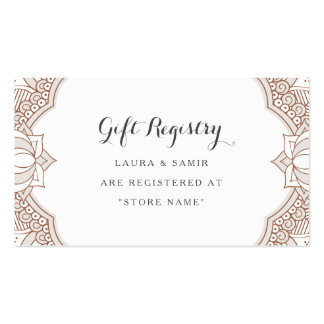 Elegant Mehndi Registry Cards Pack Of Standard Business Cards