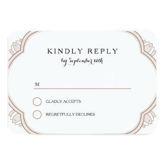 Elegant Mehndi rsvp Card