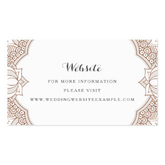 Elegant Mehndi Website Cards Pack Of Standard Business Cards