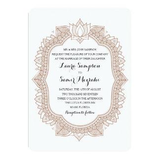 Elegant Mehndi Wedding 13 Cm X 18 Cm Invitation Card