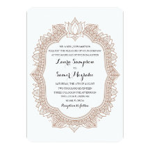 mehndi cards invitations zazzle co uk