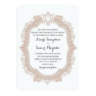 Elegant Mehndi Wedding Card