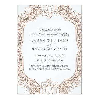 Elegant Mehndi Wedding Engagement Party Card