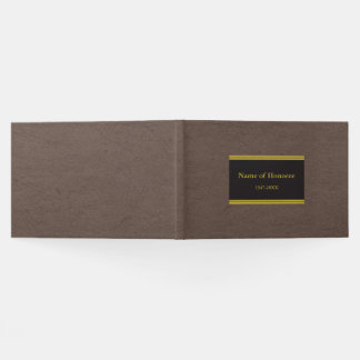 Elegant Memorial Guest Book