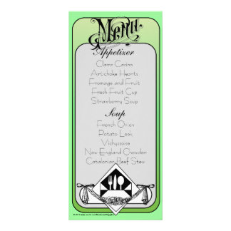 Elegant Menu Card Color 12 Rack Card