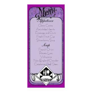 Elegant Menu Card Color 23 Full Colour Rack Card