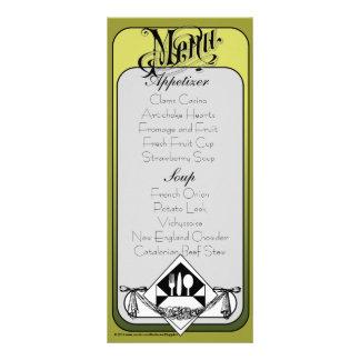 Elegant Menu Card Color 2 Rack Card Design