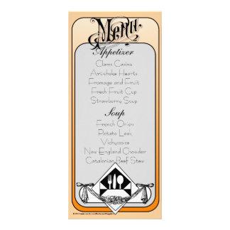 Elegant Menu Card Color 3 Full Colour Rack Card