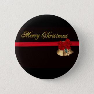 Elegant Merry Christmas 6 Cm Round Badge