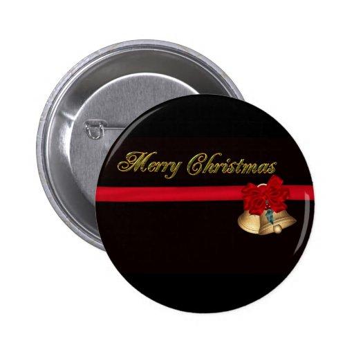 Elegant Merry Christmas Pinback Buttons