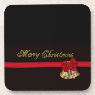 Elegant Merry Christmas Coaster