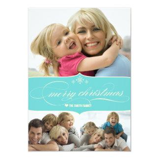 Elegant Merry Christmas Holiday Family Photo Card 13 Cm X 18 Cm Invitation Card