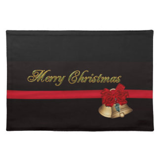 Elegant Merry Christmas Placemat
