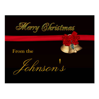 Elegant Merry Christmas Postcard