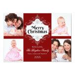 Elegant Merry Christmas Scroll Holiday Photo Card 13 Cm X 18 Cm Invitation Card