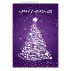 Elegant Merry Christmas Tree MOD Purple Card