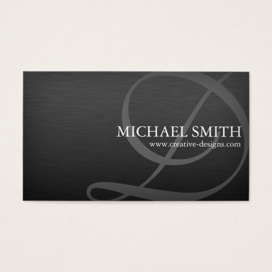Elegant Metallic - D,B Business Card