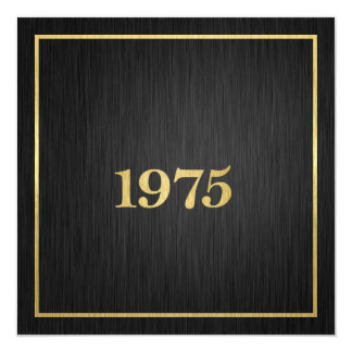 Elegant Metallic Gold 1975 Card