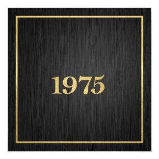 Elegant Metallic Gold 1975 13 Cm X 13 Cm Square Invitation Card