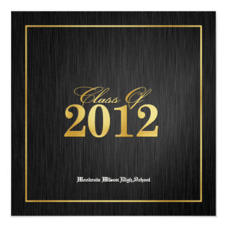 Elegant Metallic Gold Class of 2012 Announcements