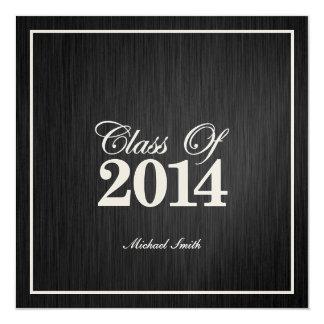 "Elegant Metallic Gold Class of 2014 Graduation 5.25"" Square Invitation Card"