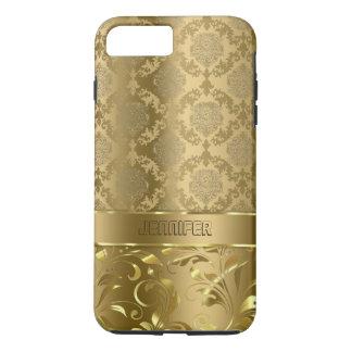 Elegant Metallic Gold Damasks & Lace iPhone 7 Plus Case