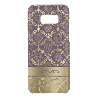 Elegant Metallic Gold & Purple Floral Lace Pattern Uncommon Samsung Galaxy S8 Plus Case