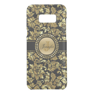 Elegant Metallic Gold Vintage Damask Monogram Uncommon Samsung Galaxy S8 Plus Case