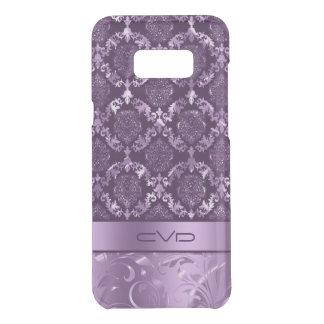 Elegant Metallic Purple Floral Lace Pattern Uncommon Samsung Galaxy S8 Plus Case