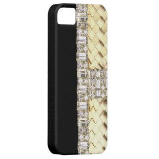 Elegant Metallic Weave & Rhinestone IPhone 5 Case