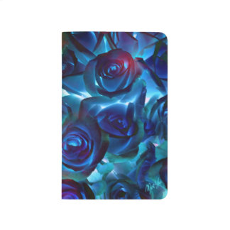 Elegant Midnight Roses Floral Pocket Journal
