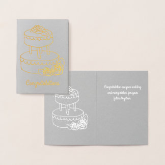 Elegant Mini Wedding Card