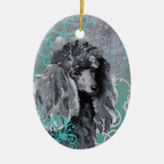 Elegant Miniature Poodle Christmas Ornament